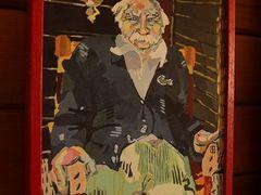 Portrét Franka Příhody, který se v australském Thredbo stal legendou, namalovala jedna z místních umělkyň